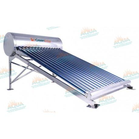 Calentador Solar 15 Tubos Acero Inoxidable