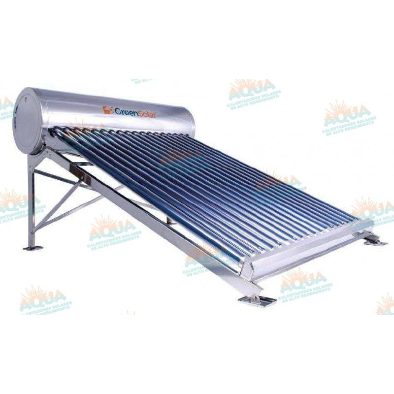 Calentador solar greensolar acero inoxidable 18 tubos - Tubos acero inoxidable ...