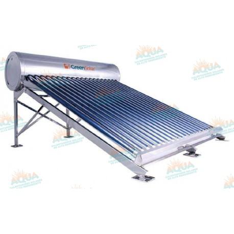 Calentador Solar 20 Tubos Acero Inoxidable