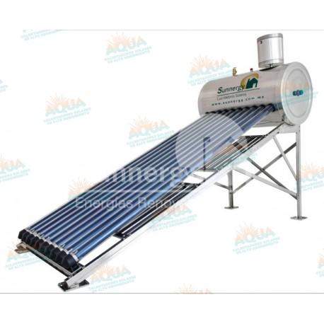 Calentador Solar 10 Tubos Alta Presión Acero Inoxidable