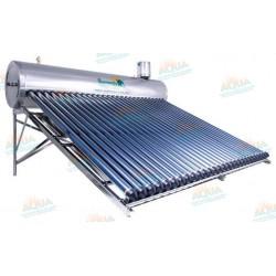 Calentador Solar 28 Tubos Alta Presión Acero Inoxidable