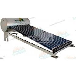 Calentador Solar 12 Tubos  Acero Inoxidable estructura corta