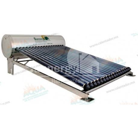 Calentador Solar 18 Tubos  Acero Inoxidable estructura corta