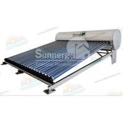 Calentador Solar 24 Tubos  Acero Inoxidable estructura corta