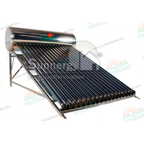 Calentador Solar 18 Tubos  Acero Inoxidable