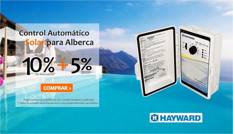 Promoción 10% de descuento + 5% adicional en Control Automático para Alberca