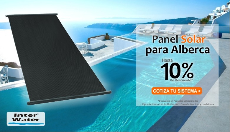 Promoción 10% de descuento en Panel Solar para Alberca
