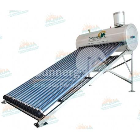 Calentador Solar 15 Tubos Alta Presión Acero Inoxidable