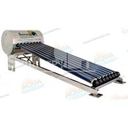 Calentador Solar 8 Tubos Acero Inoxidable estructura corta