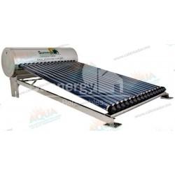 Calentador Solar 16 Tubos  Acero Inoxidable estructura corta