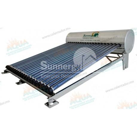 Calentador Solar 20 Tubos  Acero Inoxidable estructura corta