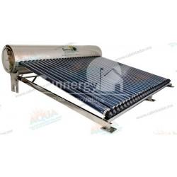 Calentador Solar 30 Tubos  Acero Inoxidable estructura corta