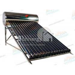 Calentador Solar 14 Tubos  Acero Inoxidable