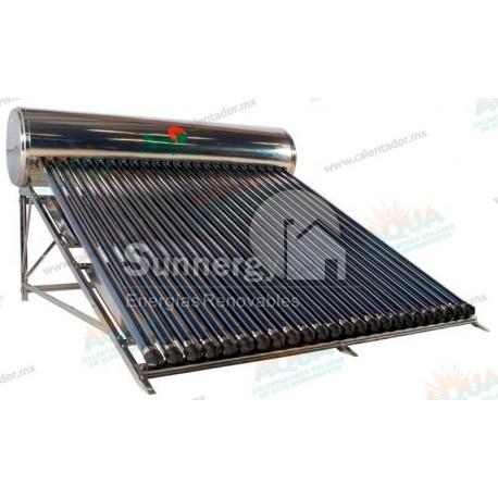 Calentador Solar 24 Tubos  Acero Inoxidable